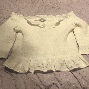American Eagle never worn size M eyelet top